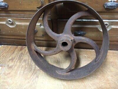 Antique Cast Iron Flat Belt Pulley 16x4 Gas Steam Engine Sawmill Lineshaft Etc