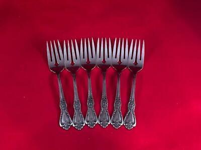 6 Salad Fork Oneida Deluxe Kennett Square Stainless Flatware -