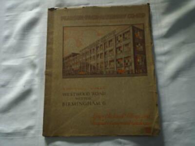 1936 PEARSON PAGE JEWSBURY CO LTD No 4 CATALOGUE 70 PAGES BIRMINGHAM & LONDON