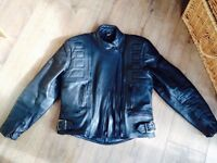 Belstaff black leather motorbike jacket womens UK 8-10