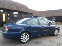 02 JAGUAR X-TYPE 2.5 V6 SPORT AUTOMATIC 4X4 LAZURITE BLUE/SAND LEATHER 44K FSH