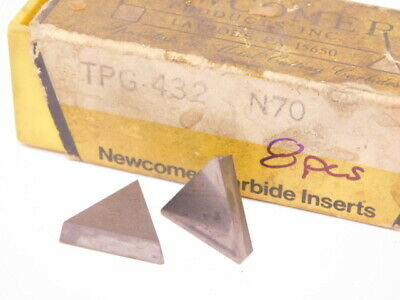 New Surplus 8pcs. Newcomer Tpg 432 Grade N70 Carbide Inserts