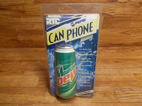 MOUNTAIN DEW Can Shaped Phone -  Soda Pop Telephone - RTC RON-7100 - Never Used