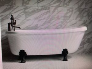 Baths of Distinction San Siro 73 inch air massage clawfoot  tub