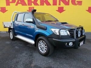 2013 Toyota Hilux KUN26R MY12 SR5 Double Cab Blue 4 Speed Automatic Utility Winnellie Darwin City Preview