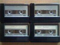 JL £8 & FREE P&P. 4x MEMOREX MRX2 1x 60 3x 90 CASSETTE TAPES. 1974-1975. BATCH 3/4. JOB LOT OR SOLO