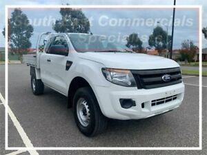 2012 Ford Ranger PX XL Super Cab 4x2 Hi-Rider White 6 Speed Sports Automatic Cab Chassis Pakenham Cardinia Area Preview