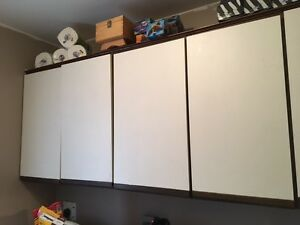 cupboards-great for laundry room or garage or basement workshop