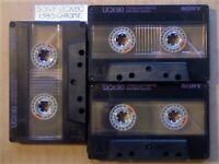 A2Z 3x RARE GUARANTEED SONY UCX 90 PREMIUM CHROME CASSETTE TAPES 1985 W/ CCLs & FREE P&P