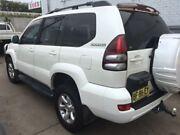 2005 Toyota Landcruiser Prado GRJ120R Grande (4x4) White 5 Speed Automatic Wagon Lidcombe Auburn Area Preview