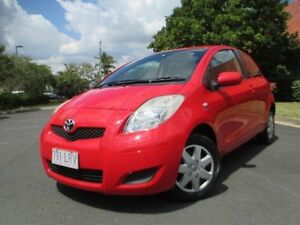 2009 Toyota Yaris NCP90R 08 Upgrade YR Red 4 Speed Automatic Hatchback Chermside Brisbane North East Preview