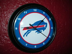 Buffalo Bills Football Throwback Bar Man Cave Black Wall Clock Sign