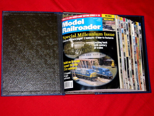 ~ MODEL RAILROADER ~ 12 ISSUES & BINDER  - 2000