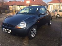 FORD KA STYLE CLIMATE 2008 59000 MILES IN METALLIC GREY