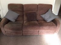 Lazyboy electric 3 seater and matching arm chair