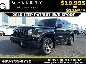 2015 Jeep Patriot Sport 4WD $119 bi-weekly APPLY NOW DRIVE NOW