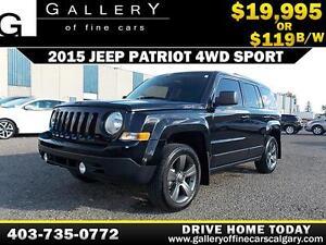 2015 Jeep Patriot Sport 4WD $119 bi-weekly APPLY NOW DRIVE NOW