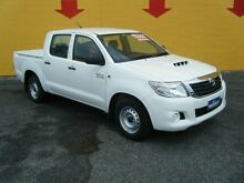 2014 Toyota Hilux KUN16R MY14 SR Double Cab White 5 Speed Manual Utility Winnellie Darwin City Preview