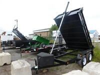 2015  3 1/2 TON DUMP  6 X 10  AND 6 X 12  SCISSOR OR FRONT HOIST