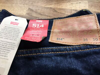 Brand New Levi 514 jeans size 36 length 30