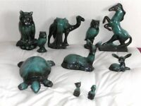 Various Items of animals made by Green Mountain Pottery