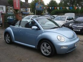 Volkswagen BEETLE 1.6 Cabriolet 2dr, 2004 model, Long MOT, New clutch fitted