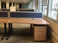 Sale sale sale executive single wave desk, pedestal divider. Delivery.