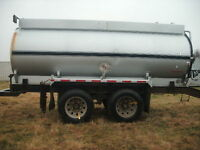 2004 JASPER stainless steel Fuel Trailer, pintle hitch