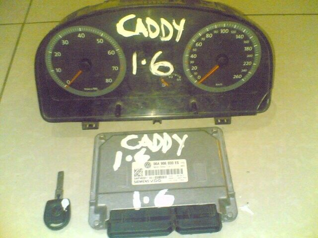caddy 1.6 panelvan ''ECU''cluster, key set