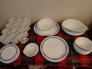PYREX & Corelle OLD TOWN BLUE Dishes: 50 Pieces!  WOW!
