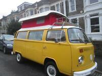 1973 VW TIN TOP now with POP TOP RHD, 2/5 BERTH CAMPERVAN / MOTORHOME FOR SALE