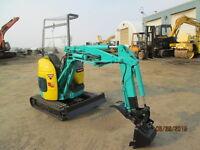 YANMAR mini excavator  MODEL BU1 OFF SET   rubber track