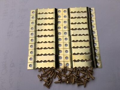 20 SAWTOOTH PICTURE HANGERS WITH 40 SCREWS