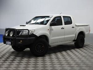 2012 Toyota Hilux KUN26R MY12 SR (4x4) White 4 Speed Automatic Dual Cab Pick-up Jandakot Cockburn Area Preview