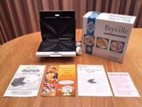White Breville multisnack and sandwich toaster SG23 - brand new - never used - manuals etc