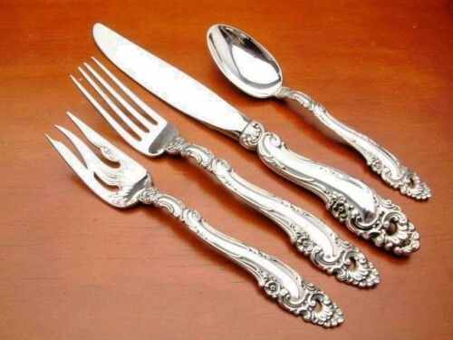 Decor by Gorham Sterling Silver 4 piece DINNER SIZE place setting