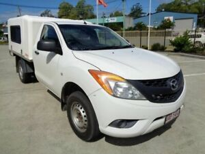 2012 Mazda BT-50 UP0YD1 XT 4x2 White 6 Speed Manual Cab Chassis Kippa-ring Redcliffe Area Preview