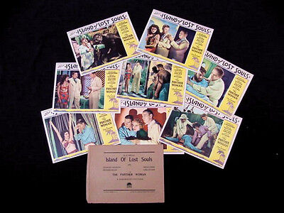 ISLAND OF LOST SOULS 1932 * CHARLES LAUGHTON * BELA LUGOSI * MINT LOBBY CARD SET