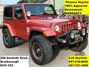 2009 Jeep Wrangler X 4WD FINANCE 100% GUARANTEED WARRANTY