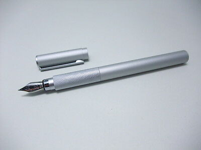 MUJI Brand-New Aluminum  Round Fountain pen made in JAPAN