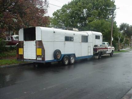 Gooseneck 5th Wheel - Horse Motor Bike Quad Speedway Race Caravan