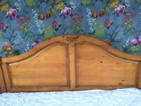 King Size wooden bed with slats (not Mattress)