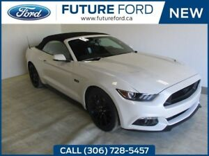 2017 Ford Mustang GT PREMIUM WHITE PLATINUM BLACK RAG TOP!