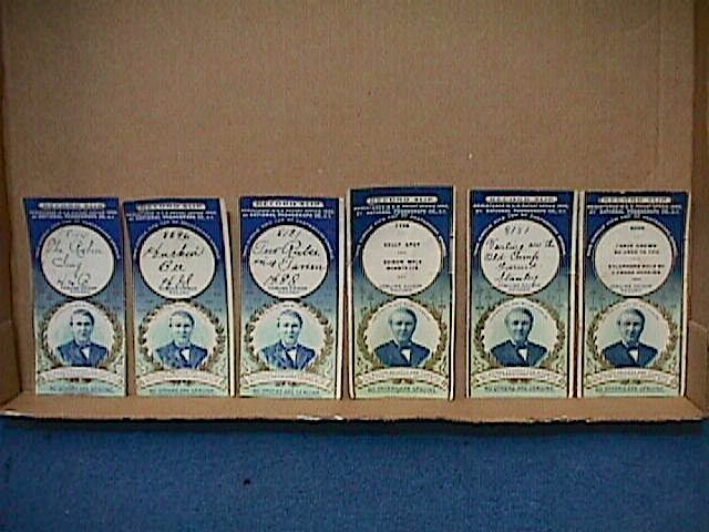 6 EDISON Blue Gold Antique c1900 RECORD SLIPS National Phonograph Co. *18 Pics*