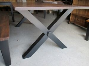 RUSTIC HARVEST TABLE WITH X BASE LAST WEEKEND THIS WEEKEND Kingston Kingston Area image 2