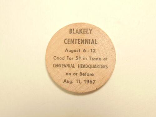 1967 Blakely, PA Centennial wooden nickel  (1867-1967)
