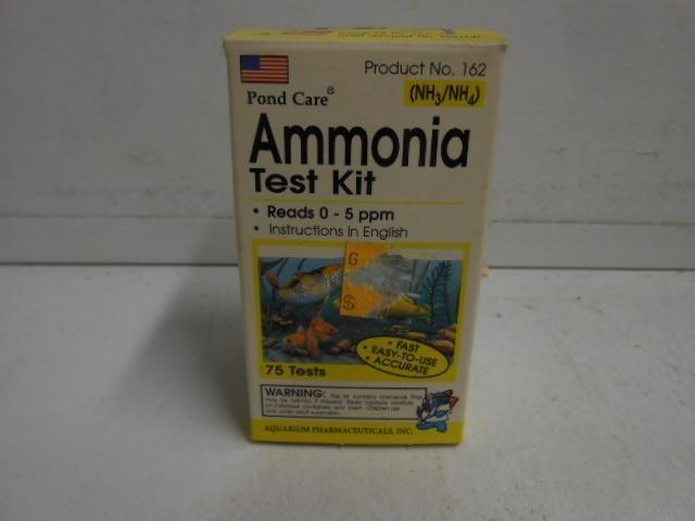 POND CARE AMMONIA TEST KIT READS 0-5 PPM 75 TESTS