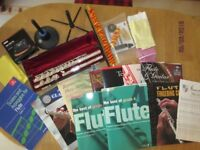 FLUTE Yamaha 311 with Silver Head Joint + KORG TM-50TR Tuner Metronome Music Books + MORE!!!