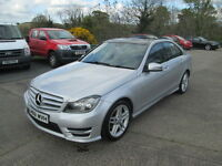 2014 MERCEDES C220 CDI AMG SPORT PLUS AUTOMATIC GLASS ROOF