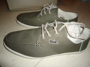 BRAND NEW IN BOX OLIVE GREEN LACOSTE SHOES LOAFERS